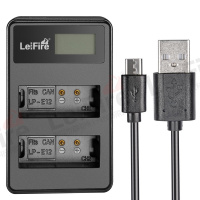 LEIFIRE LED Display USB Dual Battery Charger For LP-E12 (CANON)