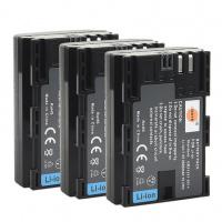 DSTE 3pcs LP-E6 / LP-E6N Battery for Canon