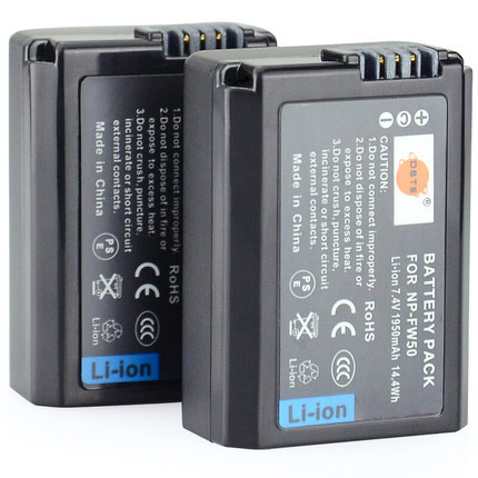 DSTE 2X NP-FW50 Battery for SONY A7 series