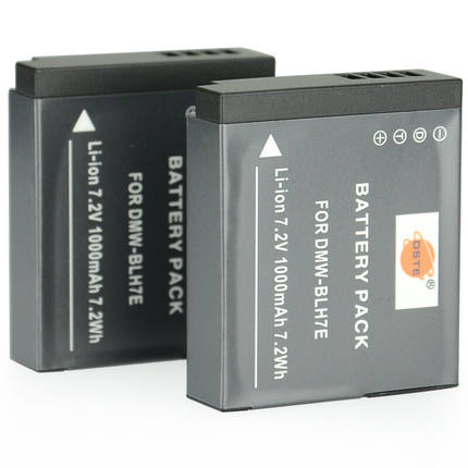 DSTE 2PCS DMC-BLH7E BATTERY FOR PANASONIC GM5 / GF7 /GM1 / GM1K / GH7 / LX10 / LX15
