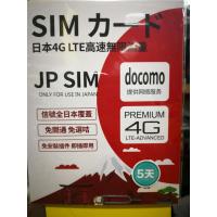 Docomo 日本限速3G/4G 5天數據卡