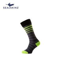 Sealskinz Thin Cuff Mid Socks 防水襪 (中筒) (BLACK/GREY/YELLOW)