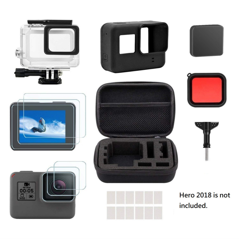 FOCUS Accessory Kit 25 In 1 Action Camera Starter Accessories Set (For GoPro Hero 2018)