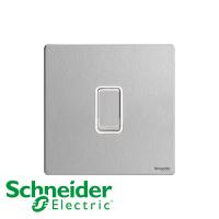 Schneider 施耐德 Ultimate 復位掣 不銹鋼 白邊 GU1412RWSS