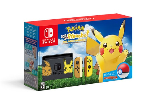Nintendo Switch Pokemon: Let's Go 主機套裝, Pikachu!