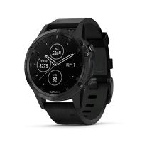GARMIN Fenix 5 Plus 黑色皮革錶帶 中文版