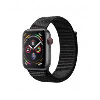 Apple Watch Series 4 GPS + 流動網絡,44 毫米太空灰鋁金屬錶殼配黑色運動手環