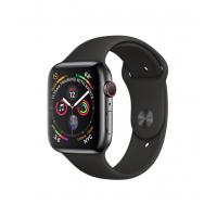 Apple Watch Series 4 GPS + 流動網絡,44 毫米太空黑不鏽鋼錶殼配黑色運動錶帶