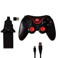 Mcbazel Bluetooth Wireless Controller with Phone Holder for Android/PS3/PC