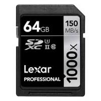 Lexar Professional 1000x SDXC UHS-II 64GB [R:150 W:90]