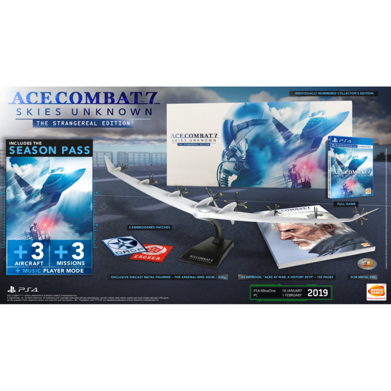 Bandai Namco PS4 Ace Combat 7: Skies Unknown (The Strangereal Edition限定版, 中文版遊戲)