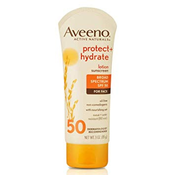 Aveeno Protect & Hydrate Lotion Sunscreen With Broad Spectrum SPF 50 For Face