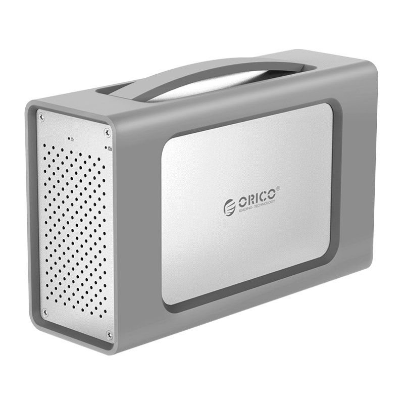 Orico 3.5 inch 2 Bay Aluminum Alloy Type-C Hard Drive Enclosure with Raid and Silicone Cover RS200RC3