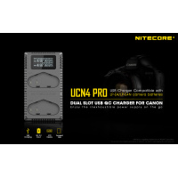 Nitecore UCN4 PRO Dual Slot USB QC Charger For Canon