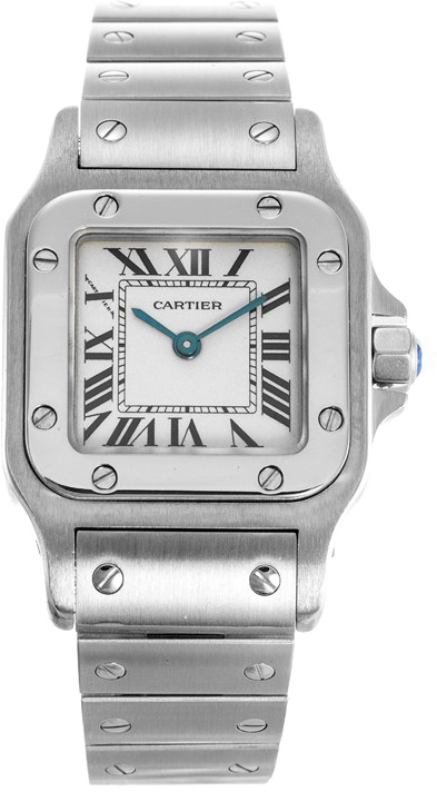 Cartier Santos Galbee Quartz Ladies Watch W20056D6