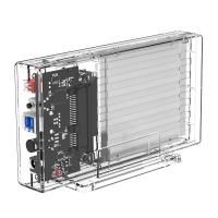 "Orico Transparent Series Dual-Bay 2.5"" Hard Drive Enclosure with RAID 2259RU3"