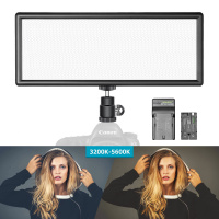 Neewer Super Slim Dimmable Bi-color LED Video Light Kit with LCD Display (10092913)