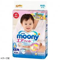 moony 紙尿片 中碼 M 68片 (增量裝)