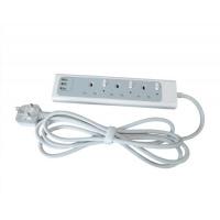 Omni 13A 3位獨立開關有指示燈拖板連3位USB充電插位 UK033-10